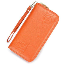 Genuine Leather 6 Inch Phone Bag High Capacity Long Wallet Clutch Purse For Women