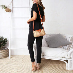 Comfortable Versatile Knit   Jumpsuit