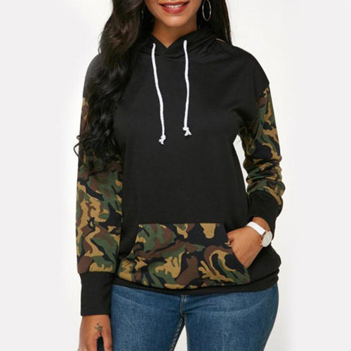 Camouflage Casual Loose Hoodies