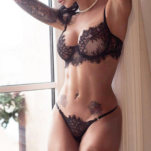Sexy Lace 3-Point Ultra-Thin Hollow Sexy Lingerie