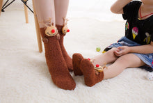 Christmas Coral Velvet Thick Towel Socks