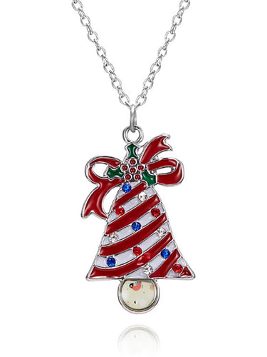 Cute Christmas Bell Ladies Pendant Necklace
