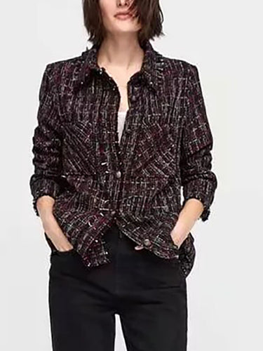 Autumn New Casual Ruffled Blazer
