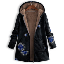 New Women's Printed Hooded Plush Jacket