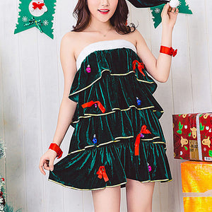 Sexy Christmas Costume Adult Female Cosplay Bar Nightclub Performance Costume