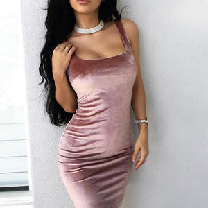 Women's Sexy Sleeveless Strap Bodycon Dress