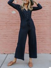 Sexy Round Neck Waistband Slim Jumpsuit