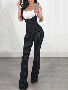 Striped Slim Thong Jumpsuit