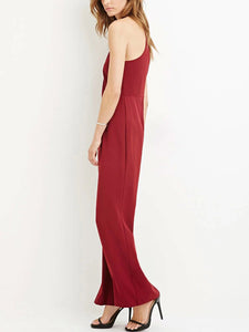 Sexy Off Shoulder Split Jumpsuit