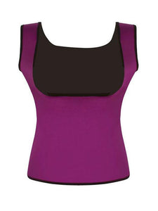 Plus Size Neoprene Sweat  Body Shaper Push Up Vest