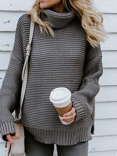 Turtleneck Long Sleeves Fashion Sweater