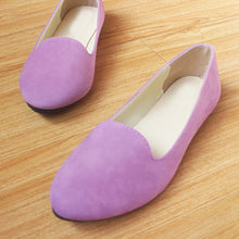 Plain  Flat  Velvet  Round Toe  Casual Flat & Loafers