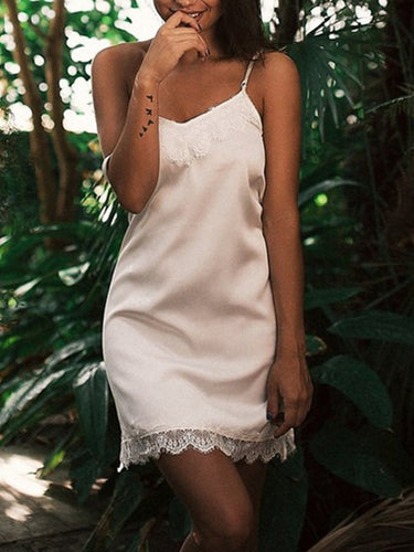 Silk Sling Lace Nightgown