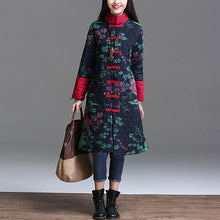 Casual Ethnic Style Printed Long-Sleeved Warm Jacket