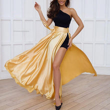 Casual Pure Color Split Beach Skirt