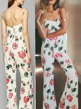 Backless Slingless Printed Jumpsuit