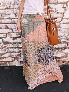 Fashion Geometry Printing Skirt