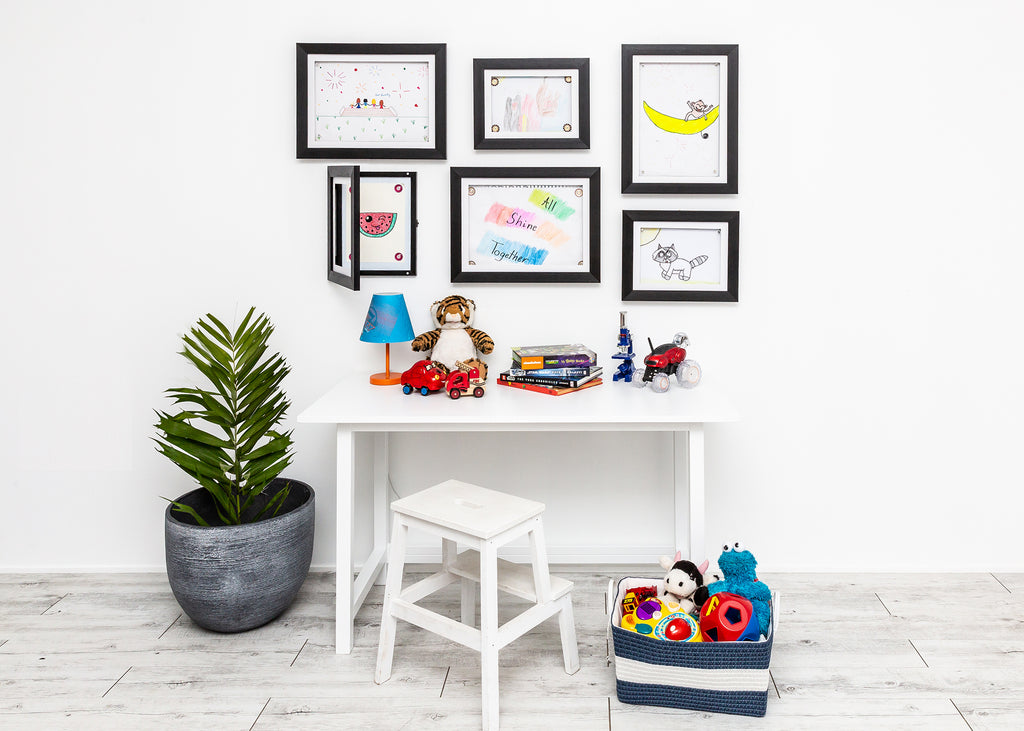 Brilliant frames front opening picture frame kids art room