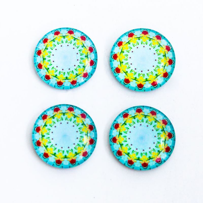 Decorative Glass Magnets - Set of 4 decorative Glass Magnets