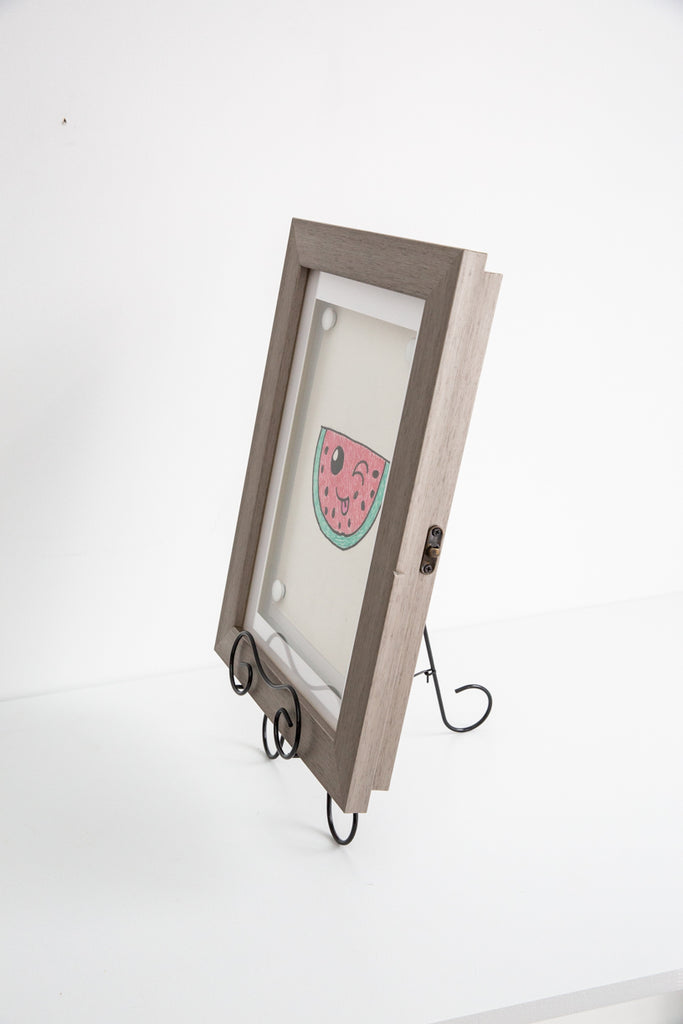 A4 Grey Front Opening Picture Frame + Magnetic Whiteboard