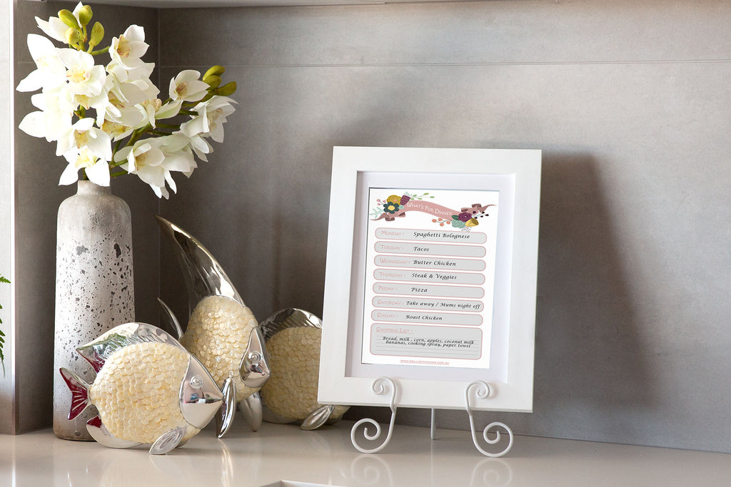 Digital Download Printable - What's for Dinner Menu