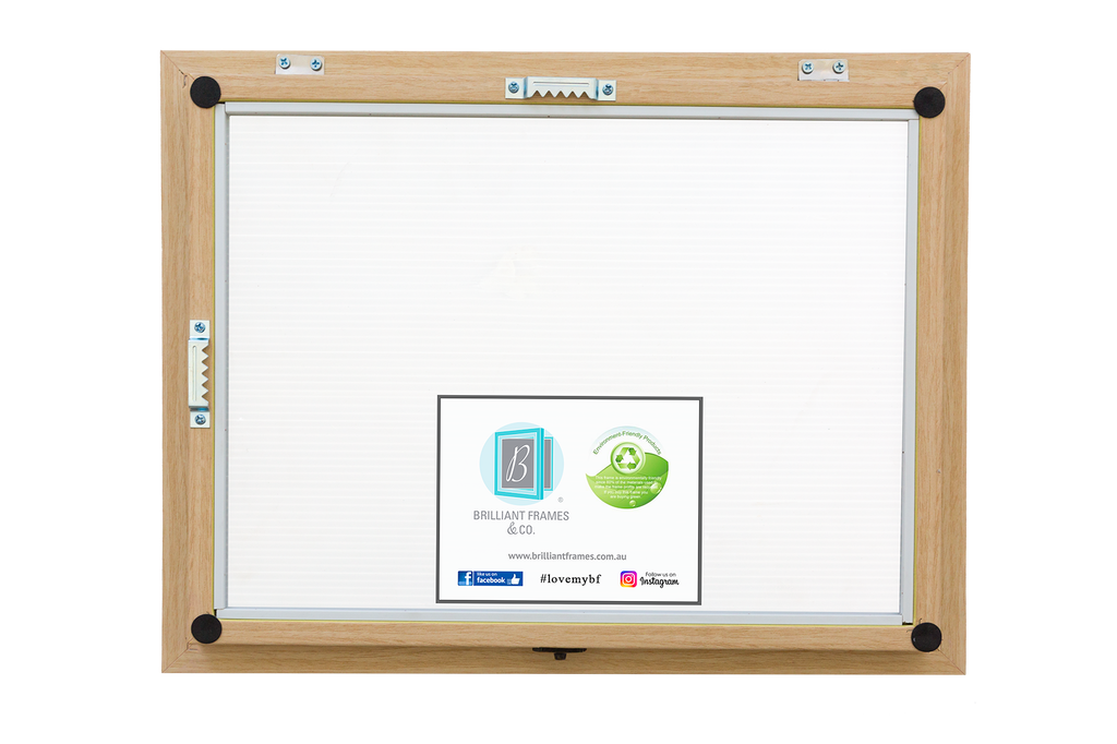 A3 Oak Front Opening Picture Frame + Magnetic Whiteboard