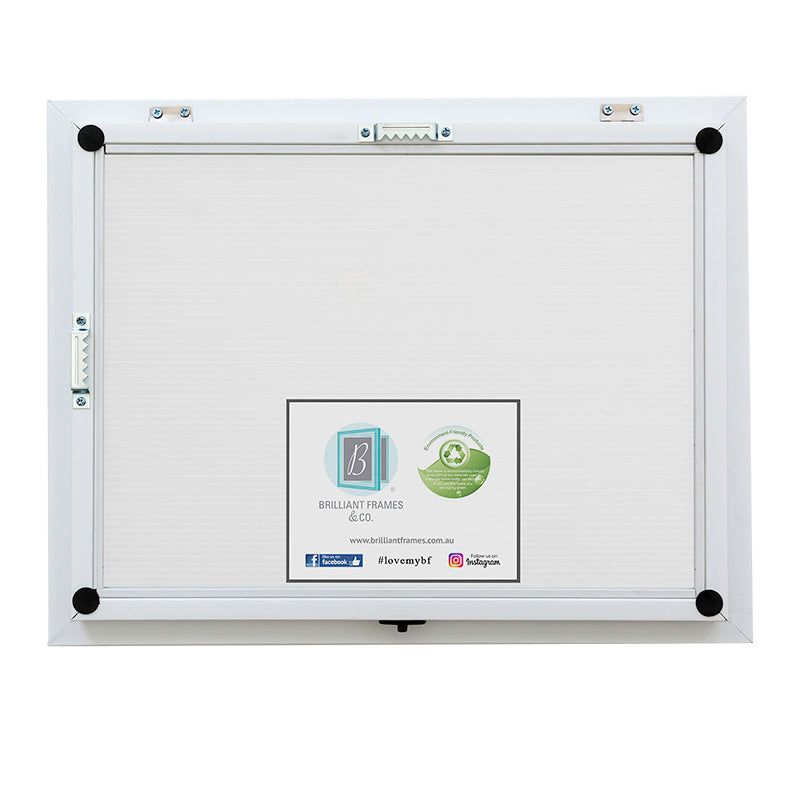A3 White Front Opening Picture Frame + Magnetic Whiteboard