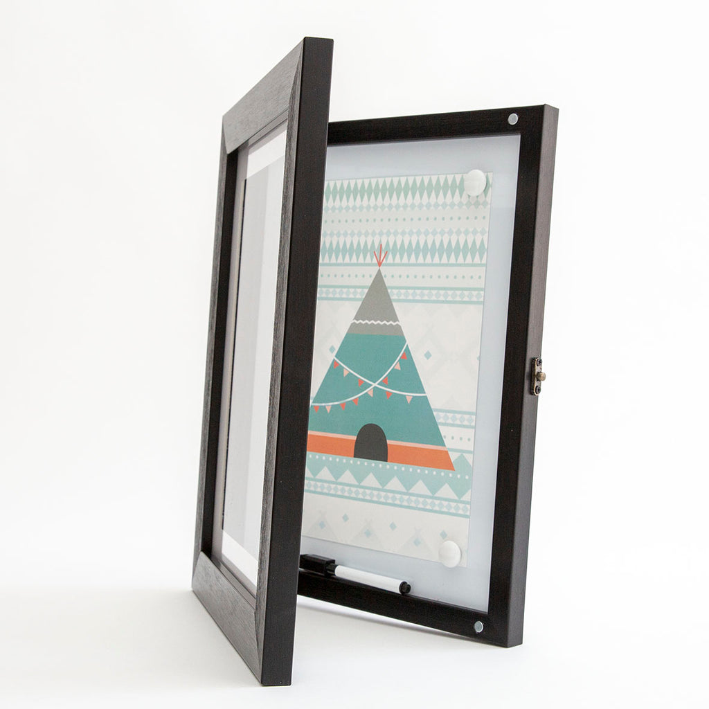 a4 front opening picture frame magnetic whiteboard