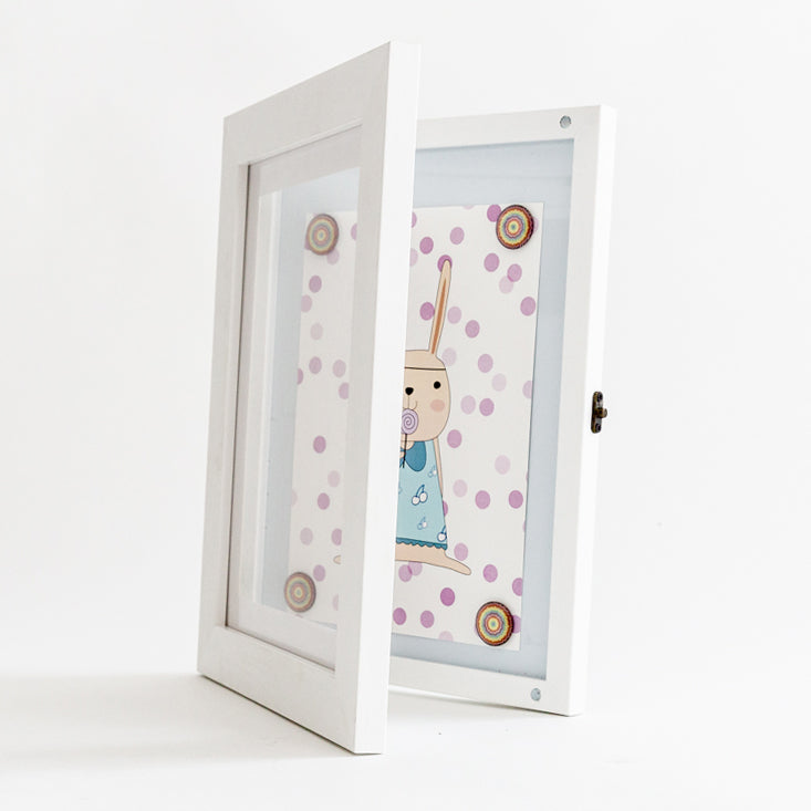 a4 white front opening picture frame