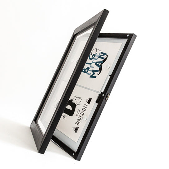 A3 Black Front Opening Picture Frame + Magnetic Whiteboard