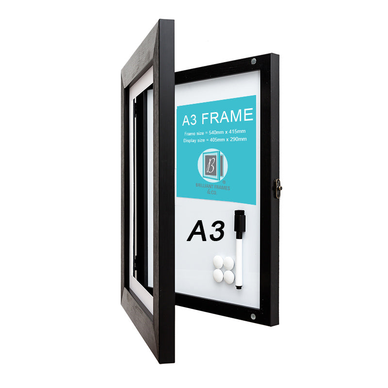 A3 Black Front Opening Picture Frame Brilliant Frames Co