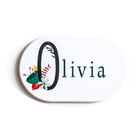 Custom Name Magnets - Floral 1st Letter