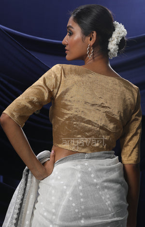 The Perfect Golden Silk Tissue Blouse