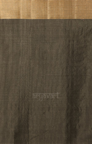 Ash Grey Chanderi Saree with Zari Butta