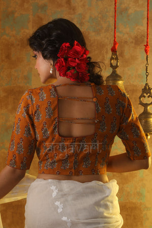 Yellow Ochre Printed Blouse