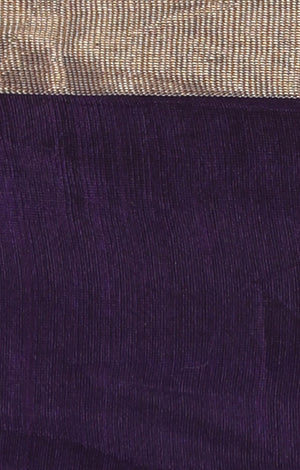 Deep Purple Chanderi Saree with Zari Butta