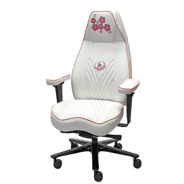 Cherry Blossom Stealth Gaming Chair - White with Pink Contrast