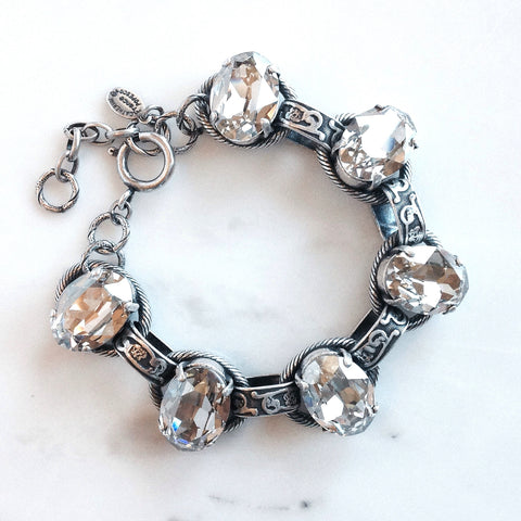 La  Vie Chain Link And Crystal Bracelet