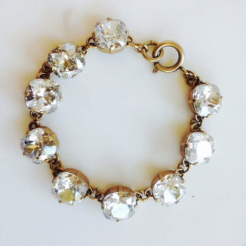 medium stone bracelet- Gold with Shade crystal