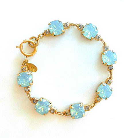 vintage setting bracelet- Gold with Pacific Opal crystal