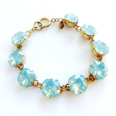 medium stone bracelet- Gold with Pacific Opal crystal