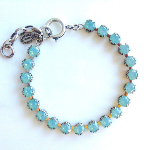 La Vie Petite Crystal Bracelet- Silver with Pacific Opal crystals