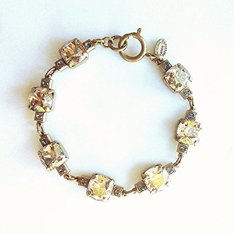 vintage setting bracelet- Gold with Champagne crystal