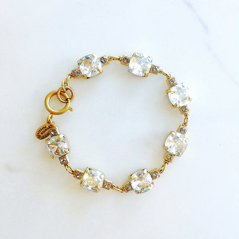 vintage setting bracelet- Gold with Shade crystal