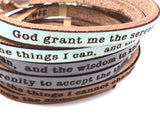 Serenity Prayer... double wrap bracelet