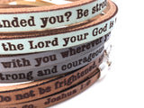 Be Strong and Courageous... Joshua 1:9 double wrap bracelet