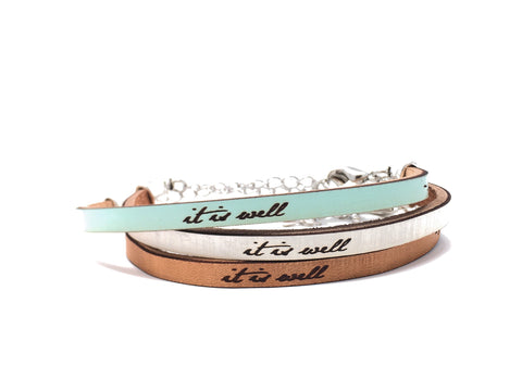 It is well... leather bracelet John 14:27     it is well     ~Jesus