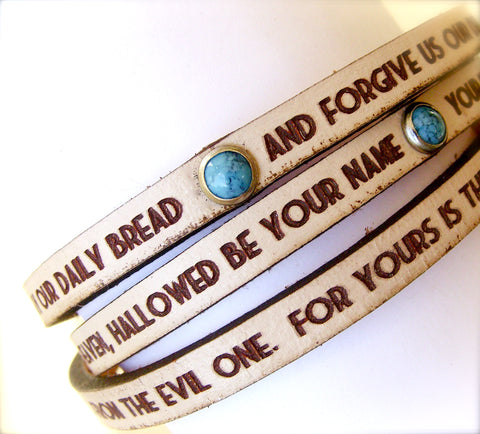 the Lord's Prayer triple wrap bracelet