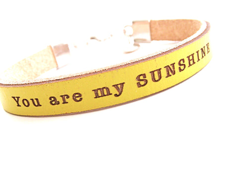 You are my Sunshine...  Daily Reminder Bracelet