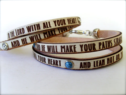 Trust in the Lord... Proverbs 3:5-6 bracelet